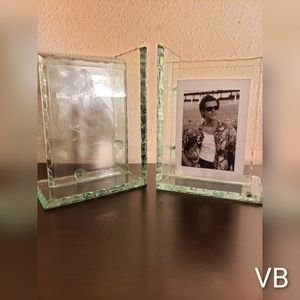 Beveled Glass Frame Bookends.